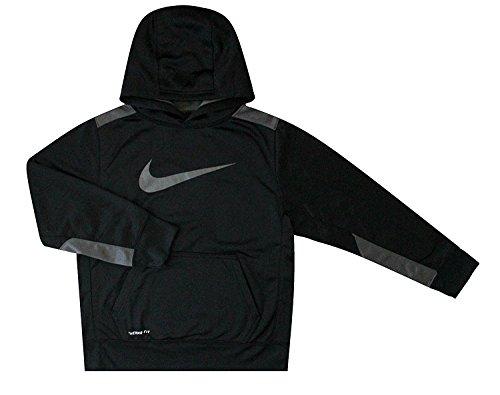 Nike Youth garçonnet KO 3.0 formation Pullover Hoodie Black/Grey 853717 010 (m)
