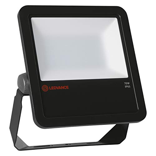 LEDVANCE Fluter LED: für Wand/Decke/Boden, FLOODLIGHT 70, 70 W, 220…240 V, Cool White, 4000 K, Gehäusematerial: Aluminium, IP65, 1-er-Pack
