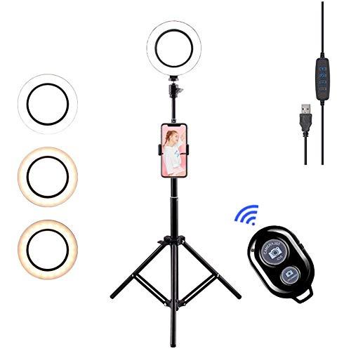 """Felaaca 10\"""" LED-Ringlicht, Farbtemperatur 11 Helligkeitsstufen mit Flexibler Smartphone -Übertragung,Selfie und Makeup [Energieklasse A]"""