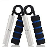 YZLSPORTS Hand Grip and Wrist Strengthener - Resistance from 50-350 lb Metal Exerciser for Hand, Forearm, and Fingers,Silver Stainless Steel (50 LB, Silver)