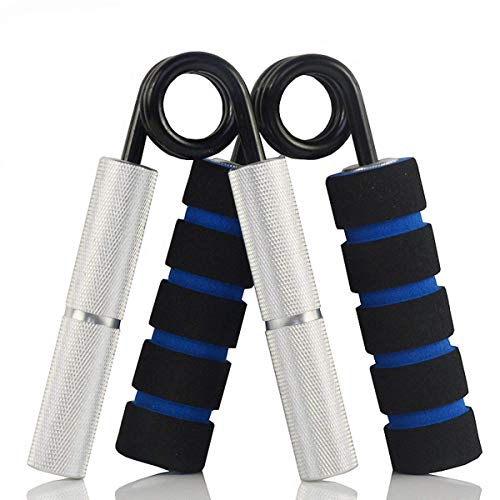 YZLSPORTS Hand Grip and Wrist Strengthener - Resistance from 50-350 lb Metal Exerciser for Hand, Forearm, and Fingers,Silver Stainless Steel (150 LB, Silver)