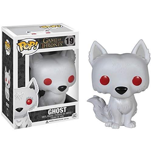 Luck7DZ Lobo del Lobo del Fantasma Figura Jon Nieve Juego de Tronos Exquisita Figura de PVC Pop