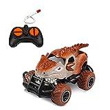 Nsddm 1/43 Mini Escala RC Coche, vehículo Control Remoto 4 Canales para niños, cáscara de Carro de Forma de Dinosaurio, Regalos cumpleaños para Chico y Chicas Juguetes Coche RC Camión por 3-7 años,
