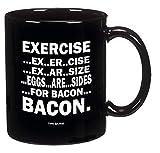 N\A Funny Guy Mugs Los Huevos Son Lados de la Taza de café de Tocino 11 oz
