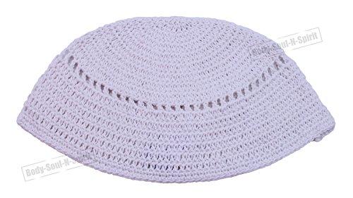 Kipà tejida BLANCA freak sombrero judío cubrecabeza étnica yamaka Israel gorra