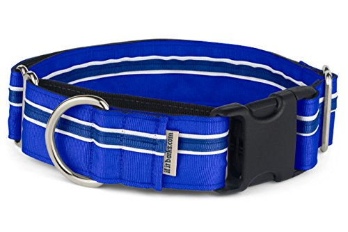 """If It Barks - 1.5"""" Martingale Collar for Dogs - Quick Snap Release Buckle - Adjustable - Nylon - Strong and Comfy - Ideal for Training - Made in USA - Large, Blueberry"""