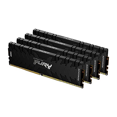 Kingston FURY Renegade 64GB 4x16GB 3600MHz DDR4 CL16 Mémoire Kit pour PC Kit de 4 KF436C16RB1K4/64