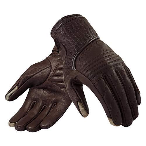Bruce Dillon Retro Motorradhandschuhe Leder Lokomotive Motorrad warme Retro Handschuhe Herren Vollfingerhandschuhe Touchscreen braun L