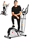 ANCHEER Macchina Ellittica Fitness Machine Cyclette Ellittica con 8 Livelli di Resistenza/Display...