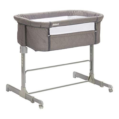 Fillikid - Cama de colecho para bebé, color gris jaspeado