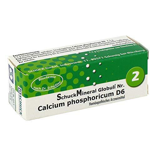 SCHUCKMINERAL Globuli 2 Calcium phosphoricum D 6 7.5 g Globuli