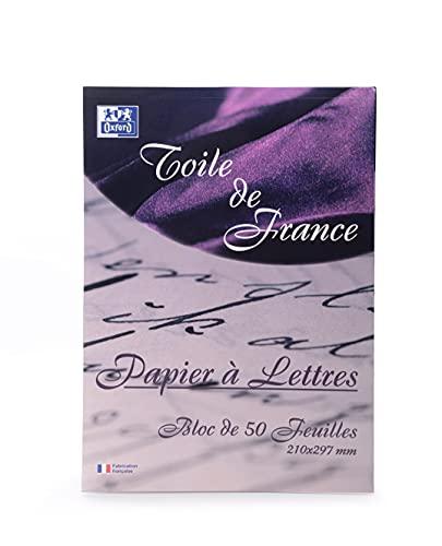 Oxford Correspondance Toile de France Papier à lettres A4 Blanc