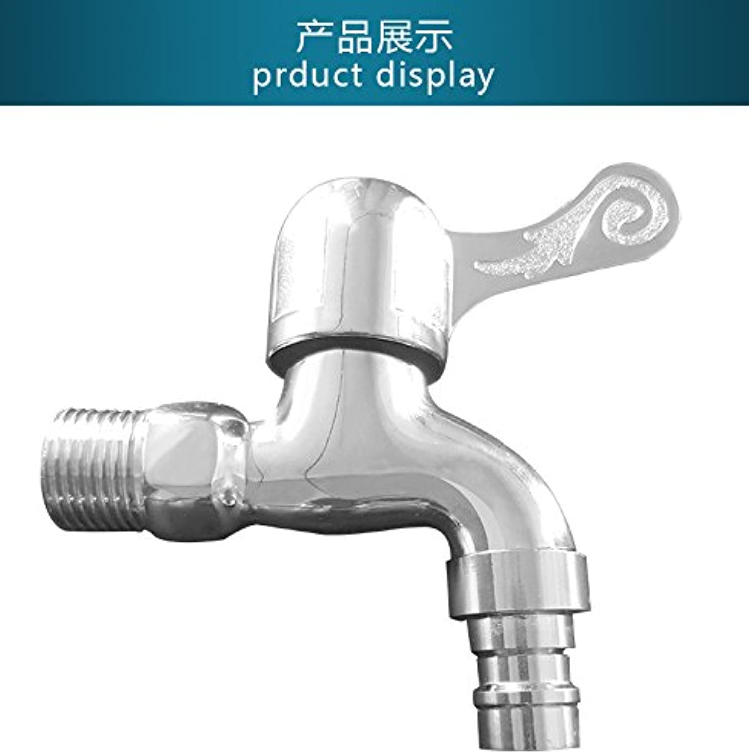 Lpophy Bathroom Sink Mixer Taps Faucet Bath Waterfall Cold and Hot Water Tap for Washroom Bathroom and Kitchen Single Cold Quick Opening Electroplated Copper B