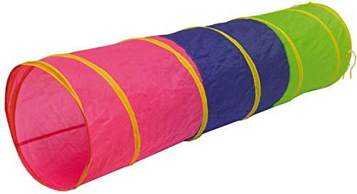 LittleTom Túnel de Juguete 180x46cm para niños pequeños de Lona Multicolor