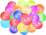 Lunriwis Wasserbomben 333 Stück Selbstschließend Schnellfüller Wasserballons Magic Balloons 9 Bündel,Mehrfarbig Wasserbomben Luftballons Bunt Gemischt für Geburtstagsfeier Strand Party