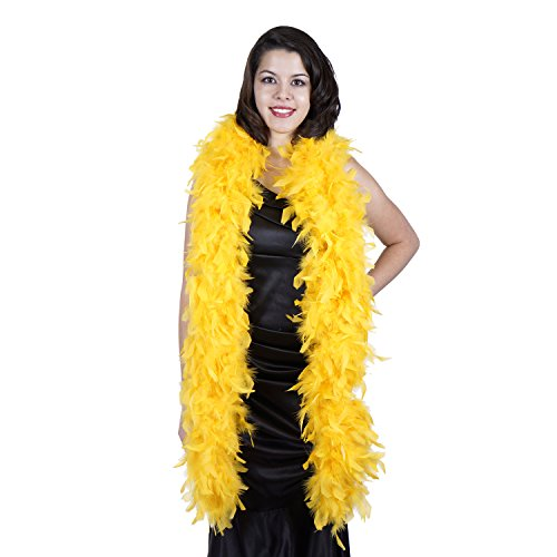 Zucker Feather Products Heavy Weight Decorative Chandelle Boa, Gold