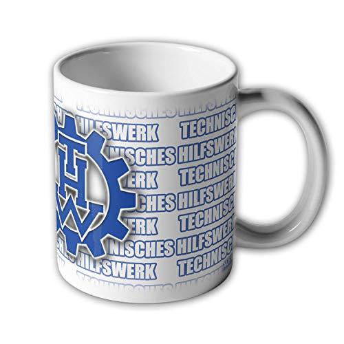 Tasse THW Technisches Hilfswerk Abzeichen Wappen Katastrophenschutz #33472