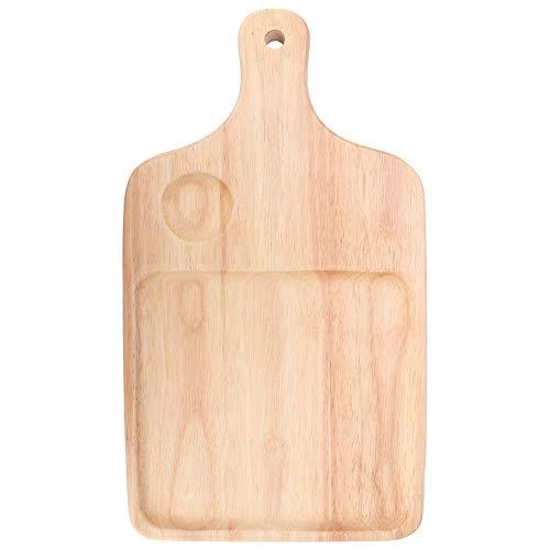 Jarchii Pizza Board, Holz Pizza Bread Gebäck Kuchen Schneidebrett Tablett Griff Backen Home Kitchen Tool zum Schneiden von Fleisch und Gemüse oder Servieren von Kuchen Obstbrot