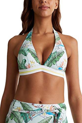 ESPRIT Damen Lilian Beach Padded Halterneck Bikini, Grün 390, 40 C