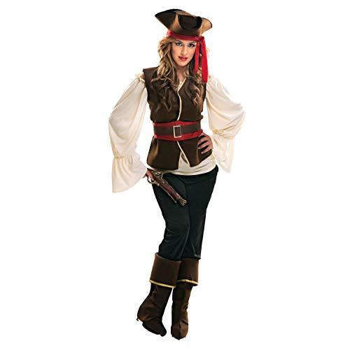 Desconocido My Other Me-200642 Piratas Disfraz de Bucanera para mujer, XXL (Viving Costumes 200642)