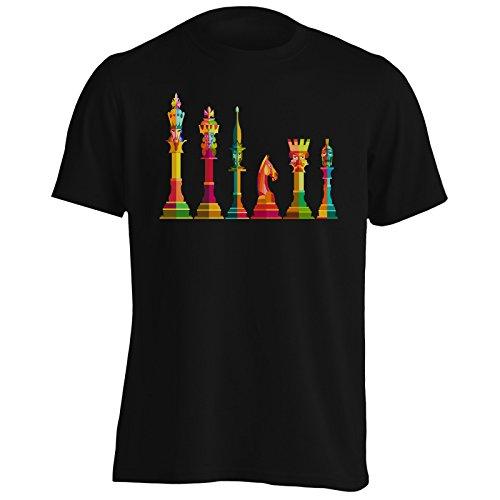 Pieza de ajedrez Art Camiseta de los Hombres v538m