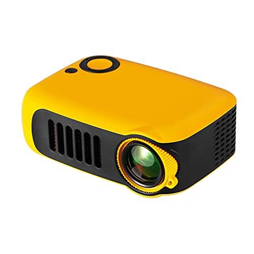 YFQHDD Nuevo Mini proyector A2000 320x240 píxeles 800 lúmenes Reproductor de Video Multimedia portátil LED para el hogar Altavoz Incorporado