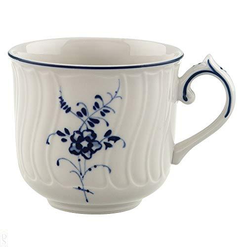 Villeroy & Boch Vieux Luxembourg Tasse à moka/expresso, 100 ml, Hauteur : 5,8 cm, Porcelaine Premium, Blanc/Bleu