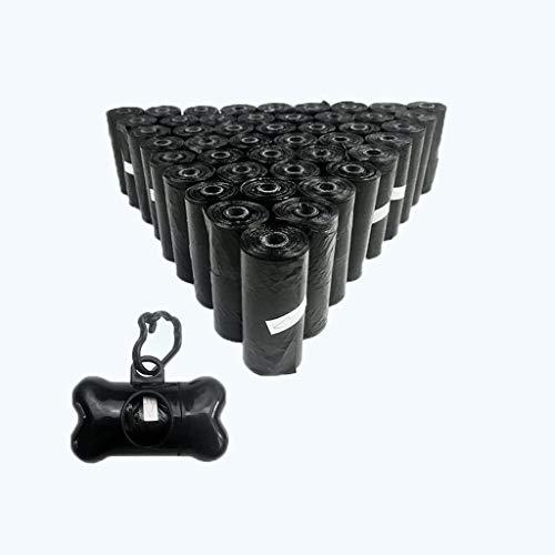 Chx Suministros para Mascotas Procesador Tipo de Hueso Juego de Bolsas para extracción de Mascotas Suministros para Mascotas (Color : Negro, Tamaño : 20 Rolls+1 Water Dispenser)