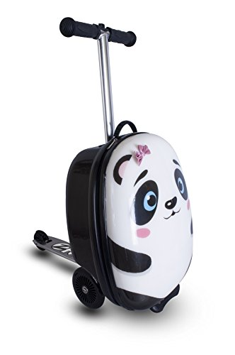 ZincFlyte Kid's Luggage Scooter 18' - Polly the Panda