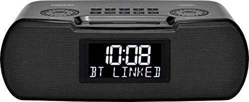 Sangean RCR-30 FM-RBDS / AM / Bluetooth / Aux-In Digital Tuning Clock Radio with USB Phone Charging and Sound Soother, Black