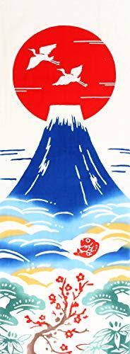 Airashika(あいらしか) 和雑貨 注染手ぬぐい『初日の出』 正月 富士山 33×90cm