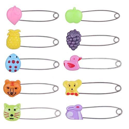 Oulensy 4pcs plástico Cabeza Pernos de Seguridad para bebé Niños Panal del paño de Bloqueo Hebillas Cuidado del bebé de la Ducha del pañal Broche de los Clips del sostenedor
