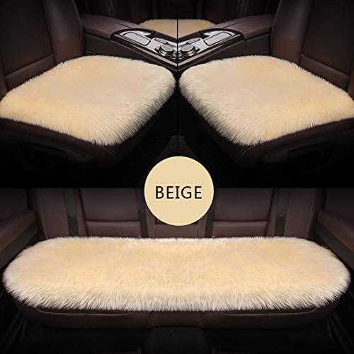 Gyj&mmm Sitzauflage Auto Sitzkissen Auto Weiche Sitzkissen Orthopädische Kissen Sitzbezug Für Autositz Bürostuhl Rollstuhl,Beige