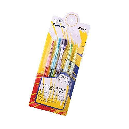 KAERMA Süßigkeit-Farben-Malpinsel Kunststoff Penholder Aquarell Gouache Supplies Bio Rod Multicolor Brushg Art Werkzeuge Schulmaterial Heimwerken und Heimwerken (Size : Level)