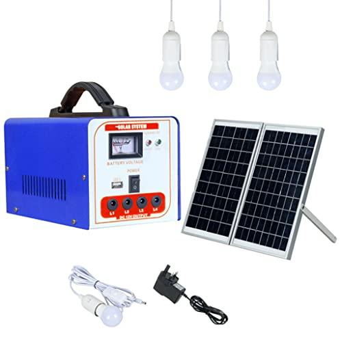 YYWER Central eléctrica portátil con Panel Solar Incluido, generador Solar con batería de Litio de 100 WH, Salidas USB de 40 W para Viajes, Camping, Caravana Blue