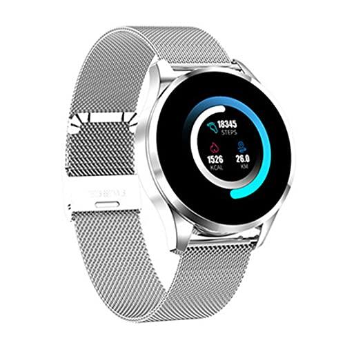 YYZ Nuevo Q9 Smart Watch Diámetro táctil Completo Diámetro Señoras Smart Watch Adecuado para Damas y niñas, Compatible con,B