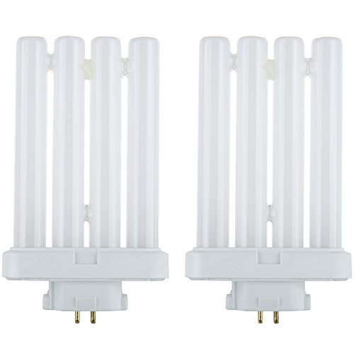 Sunlite Series FML27/65K/2PK Fluorescent 27W 6500K Daylight Quad Tube FML CFL Plugin Light Bulbs, 4-Pin GX10Q-4 Base, 2 Pack, 6500K-Daylight