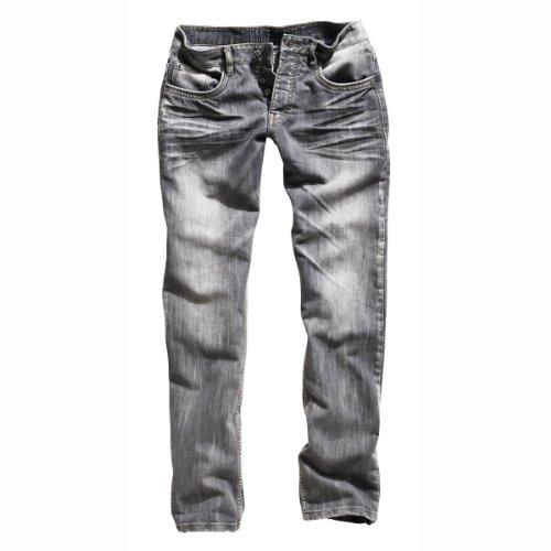 Timezone Herren Jeans Regular Fit 26-5328 Coast 9101 Graphit, Gr. 32/34, Grau (Graphit 9101)