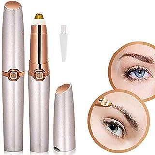 eyebrow threading machine/nose hair for girl,women mini size in handbag like penEyebrow Hair RemoverTrimmer Epilator Painless Eyebrow Razor(Rose Golden))