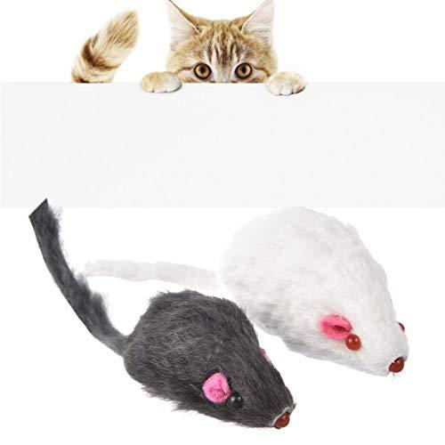12 Mäuse Gemischt Katzenspielzeug Fellmaus Kurzhaarmaus Mit Rassel Katzenspielzeug Schwarz Weiß Simulationsmaus Gute Katze Interaktives Spielzeug