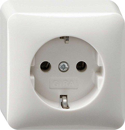 Gira 044013 Schuko stopcontact opbouw, zuiver wit