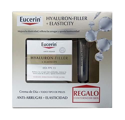 Eucerin Hyaluron Filler Elasticity Tagescreme LSF 15 und Augenkontur, 50 + 15 ml