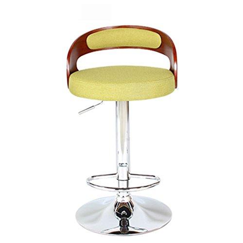 Ali@ Style européen Chaises de bar haut de gamme Chaise à café Tabouret de bar Chaise de bureau en bois massif Chaise d'ascenseur Chaise de réception (Couleur : Green)