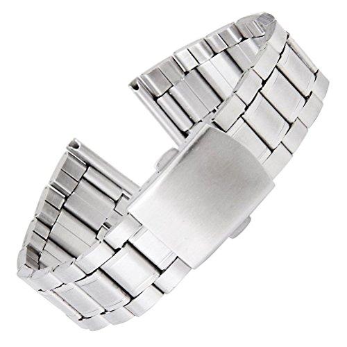 WINOMO argento bracciale orologio braccialetti cinturino per orologio in acciaio inox Band 18–22mm–1pz