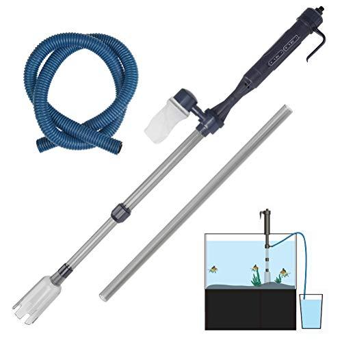pequeño y compacto BUYGOO Aspirador de cilindro de acuario Limpiador de grava eléctrico Filtro de acuario Sifón …