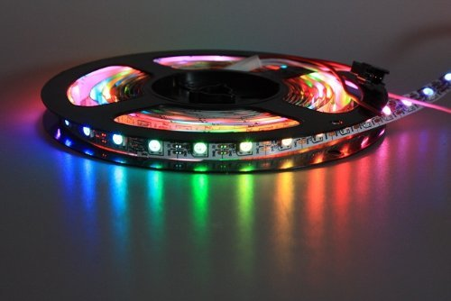 Tira de LEDs WS2812 B, de 2 metros, 60 LEDs, con controlador WS2811 integrado, color negro.