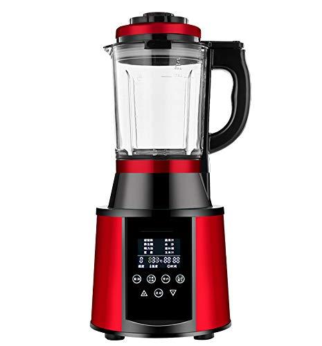 ALK Standmixer 1500 Watt Glas Edelstahl | Smoothie Maker | Mixer | Universal Power Mixer | 1.75L | 8-Fach Metallmesser | Zerkleinerer | Eiweiß Shaker | Ice Crusher,Rot
