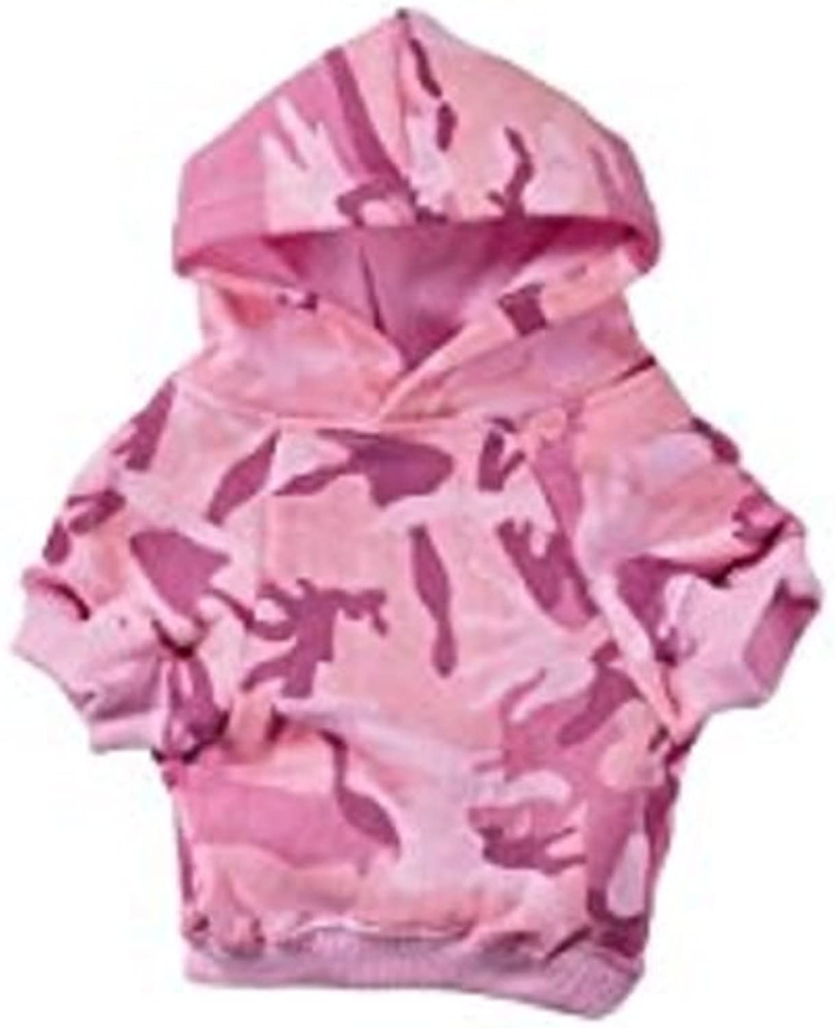 Casual Canine Cotton Camo Dog Hoodie, XSmall, Pink