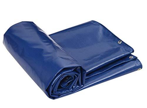 JUNWEN LHXTARPAULIN, wasserdichtes Hochleistungs-Plane, geeignet für Gegenstandsabdeckung, Gartendekoration, Outdoor Camping, Campzelt, mehreren Optionen, Blau (Größe: 7 *...