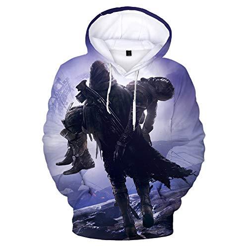 Herren Damen Hoodies 3D Druck Pullover Kapuzen-Sweatshirt Hoodies mit großen Taschen Gr. Small, Destiny 2-2
